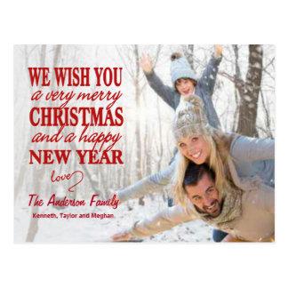 Cartão indicado por letras da Cheio-Foto do Feliz Cartão Postal
