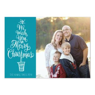 Cartão indicado por letras da foto do Natal da
