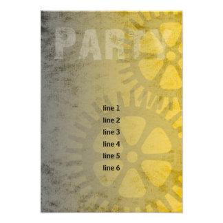 Cartão industrial do partido do Grunge de Mitzvah Convite Personalizado