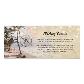 Cartão Informação de detalhes tropical do casamento de