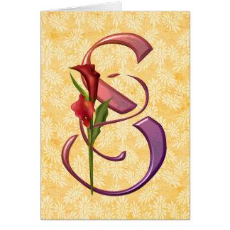 Cartão Inicial colorida S do Calla