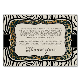 Cartão Inserção animal do chá de panela do impressão