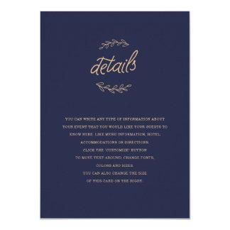 Cartão Inserção do casamento do Wildflower