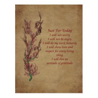 Cartão inspirado da oração da atitude das flores