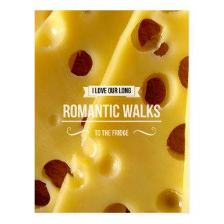 Cartão inspirado das caminhadas românticas cartões postais