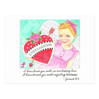 Cartão inspirado do amor eterno cartão postal