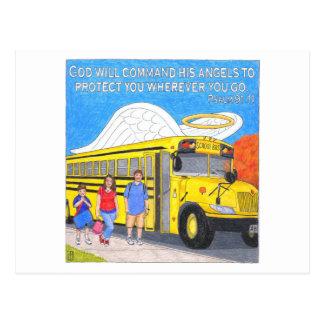 Cartão inspirado do anjo do ônibus cartão postal