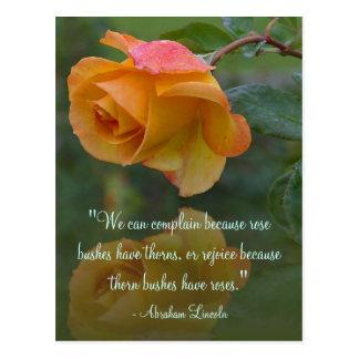 Cartão inspirador das citações de Lincoln dos Cartão Postal