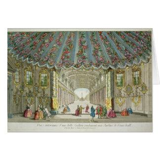 Cartão Interior de uma galeria que conduz a Vauxhall