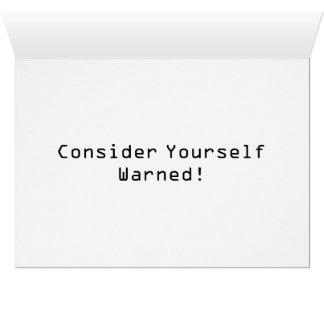 Cartão Internet do sinal de aviso do cuidado de IoT das