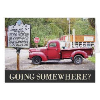 Cartão Ir em algum lugar?