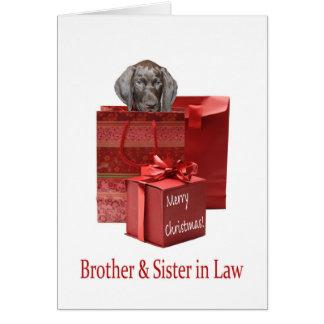 Cartão Irmão & irmã lustrosos do urso na feliz Chris da