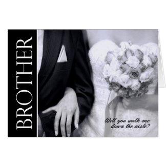 Cartão Irmão - você andará mim traga o casamento do