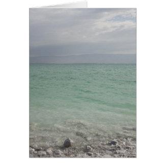 Cartão Israel, Mar Morto, seascape