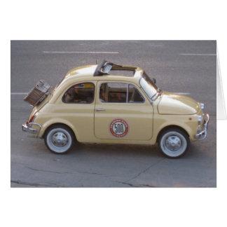 Cartão italiano do carro