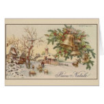 Cartão italiano do Natal do vintage