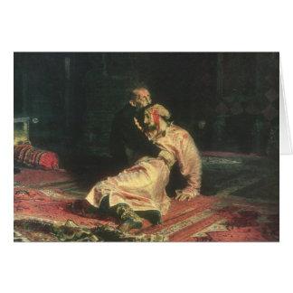 Cartão Ivan o terrível e seu filho