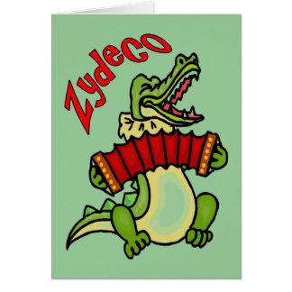 Cartão Jacaré de Zydeco