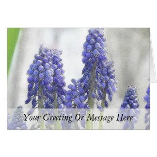 Cartão Jacintos de uva do dia chuvoso