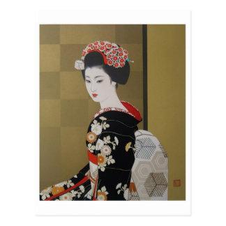 Cartão japonês da arte do vintage