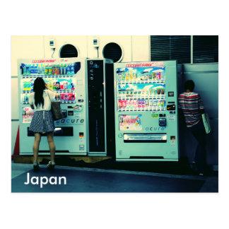 Cartão japonês das máquinas de venda automáticas