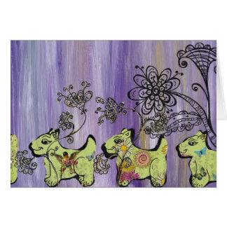Cartão Jardim do cachorrinho