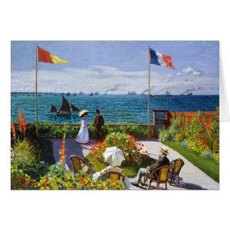 Cartão Jardim em Sainte-Adresse, Claude Monet 1867