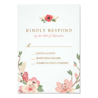 Cartão Jardim RSVP Wedding Pastel do primavera