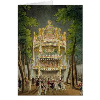 Cartão Jardins de Vauxhall, 1808