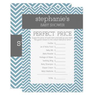 Cartão Jogo azul Pastel do chá de fraldas - preço