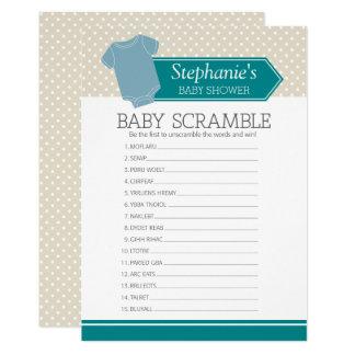 Cartão Jogo do chá da precipitação do bebê - bolinhas do