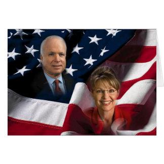 Cartão John McCain & Sarah Palin, 2008 eleições