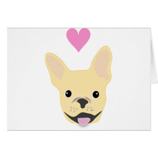 Cartão Jovem corça Frenchie