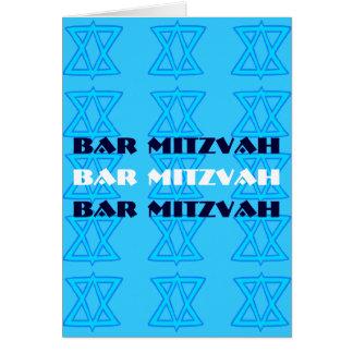 Cartão judaico do BAR MITZVAH da estrela