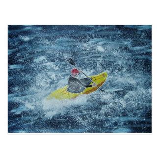 Cartão kayaking de Whitewater