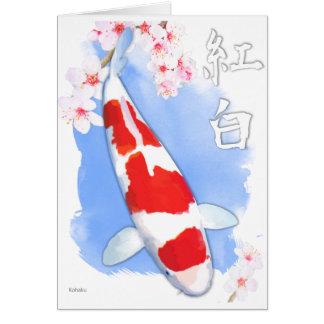 Cartão Kohaku Koi