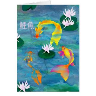 Cartão Koi