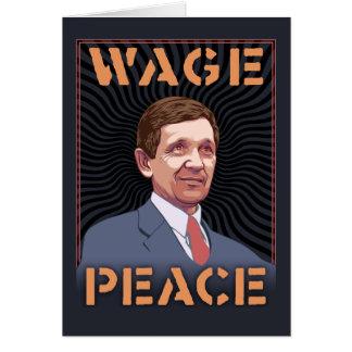 Cartão Kucinich - paz do salário