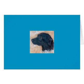 Cartão Labrador preto