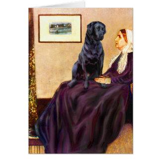 Cartão Labrador (preto) - Whistler' mãe de s