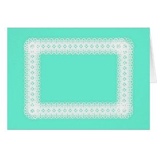 Cartão Laço branco no verde limão - DIY