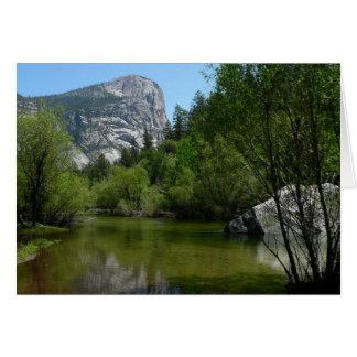 Cartão Lago mirror mim no parque nacional de Yosemite