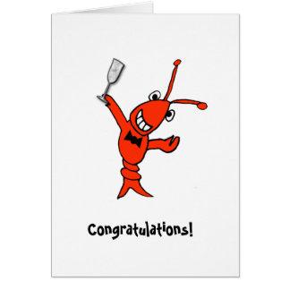 Cartão Lagostins/lagosta de Cajun personalizada