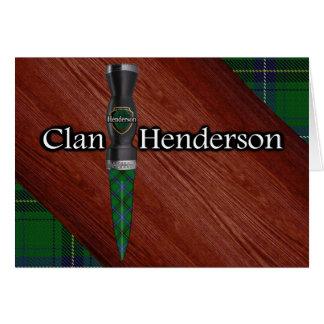 Cartão Lâmina de Sgian Dubh do Tartan de Henderson do clã