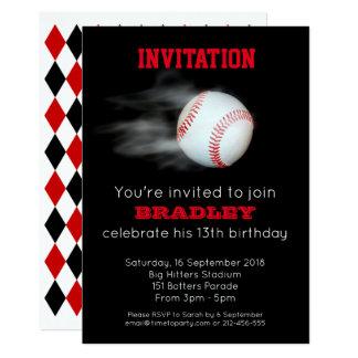 Cartão Lance o editável personalizado equipa de beisebol