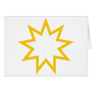 Cartão Laranja da estrela de Bahai