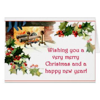 Cartão Lareira do Natal