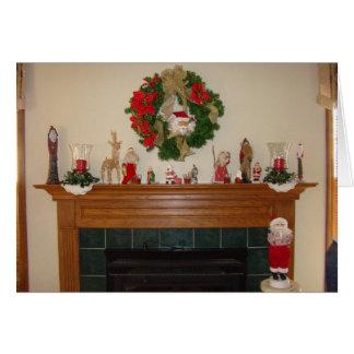 Cartão Lareira/lareira do Natal