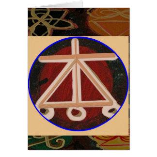 Cartão LAREIRA - símbolo cura de Karuna Reiki