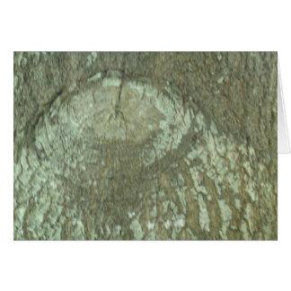 Cartão Latido Camo do olho da árvore dos carvalhos da